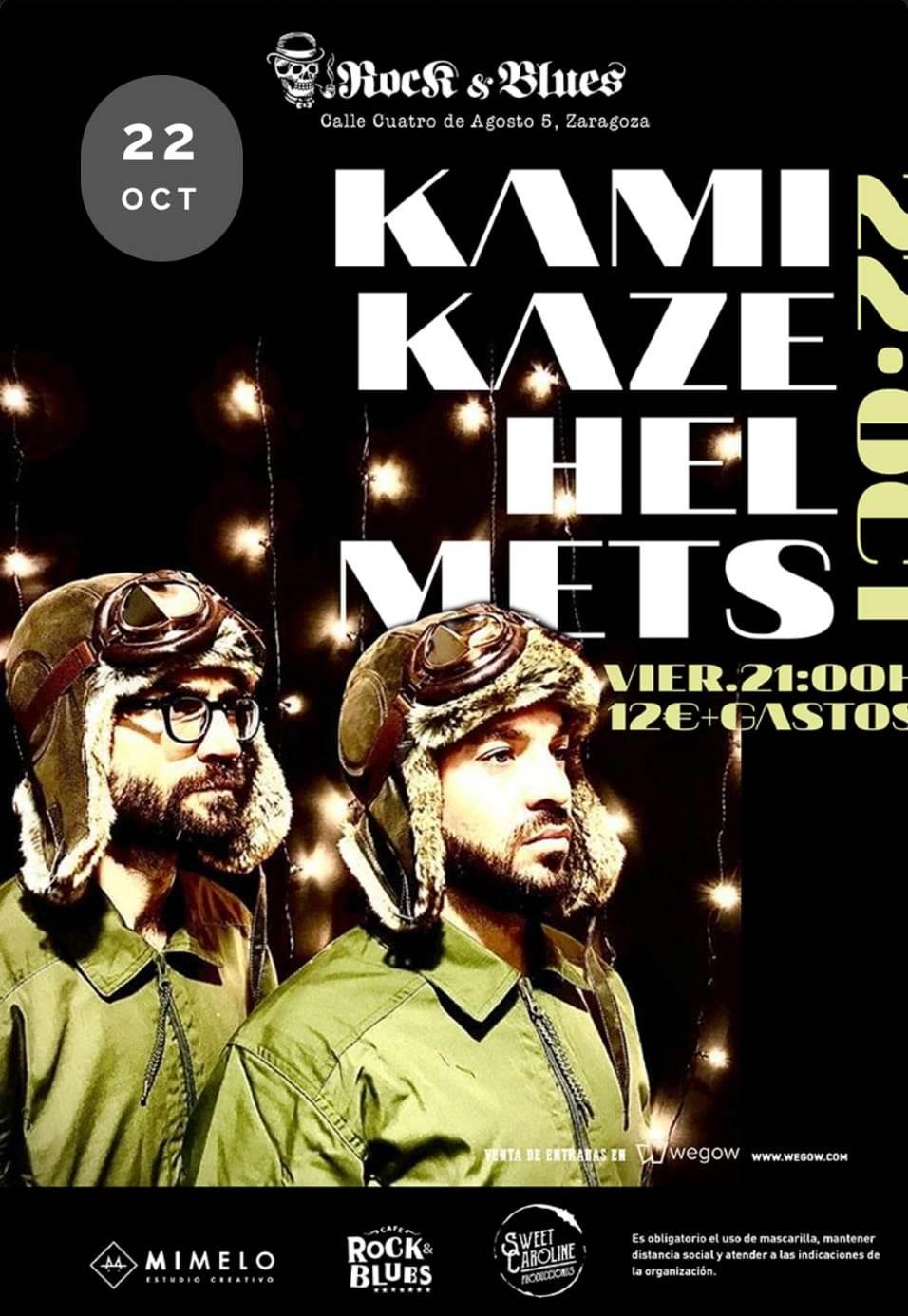 Kamikaze Helmets oncierto-Rock-And-Blues-Zaragoza-.-Aragon-En-Vivo