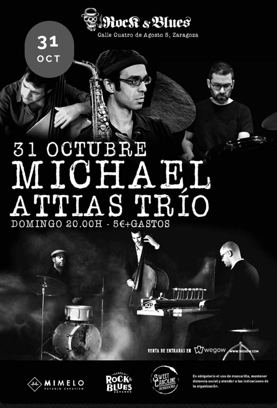 MICHAEL-ATTIAS-TRIO-Concierto-Rock-And-Blues-Zaragoza-.-Aragon-En-Vivo