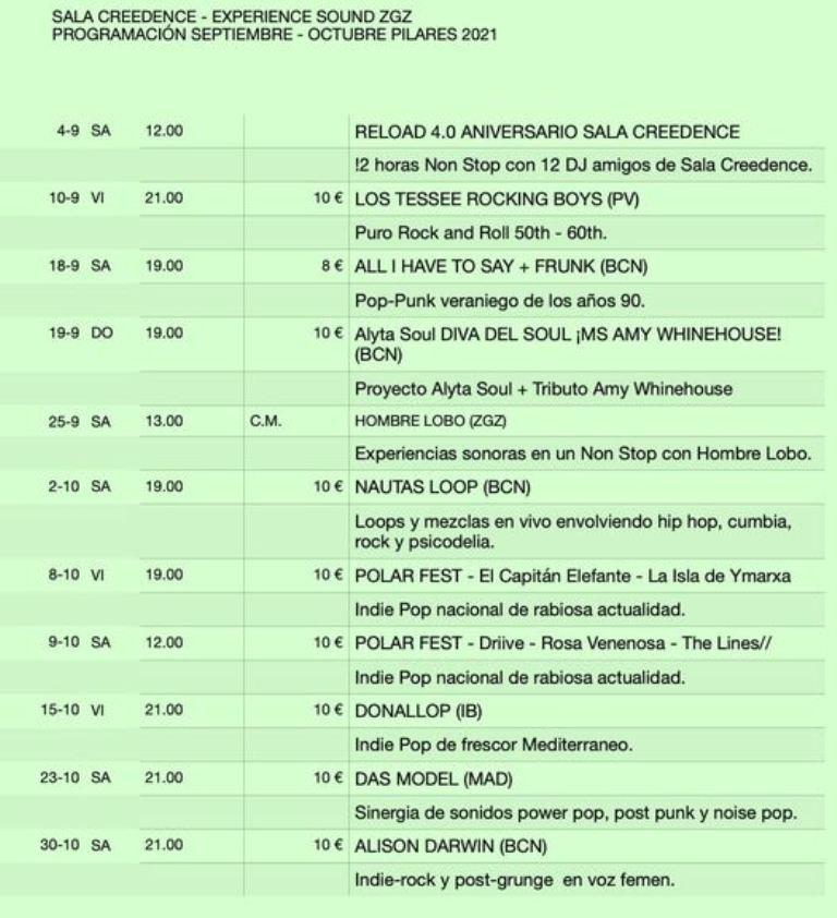 Sala-Creedence-Zaragoza-Programacion
